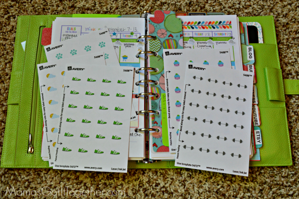 How to make your own planner stickers tutorial mama 39 s for Create my own planner