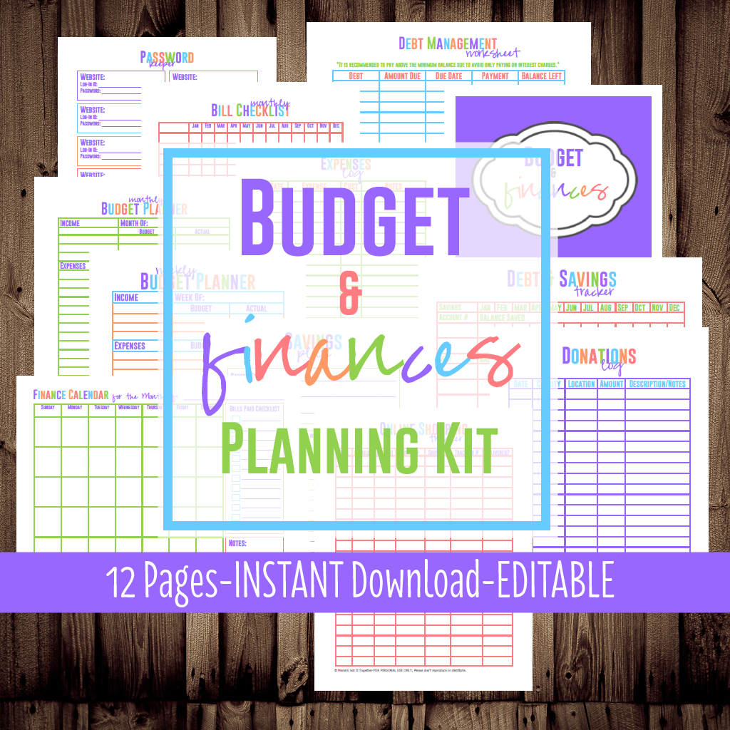 Printable Budget Planner - Mama's Got It Together